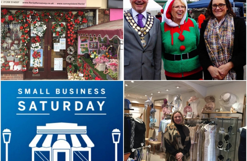 Rebecca supporting Small Business Saturday