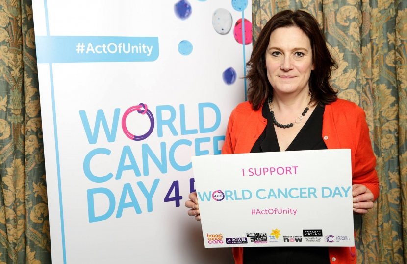 Rebecca supporting world cancer day