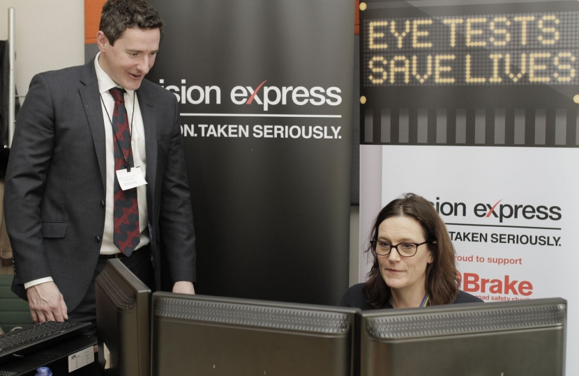 Rebecca at Vision Express for Road Safety Week