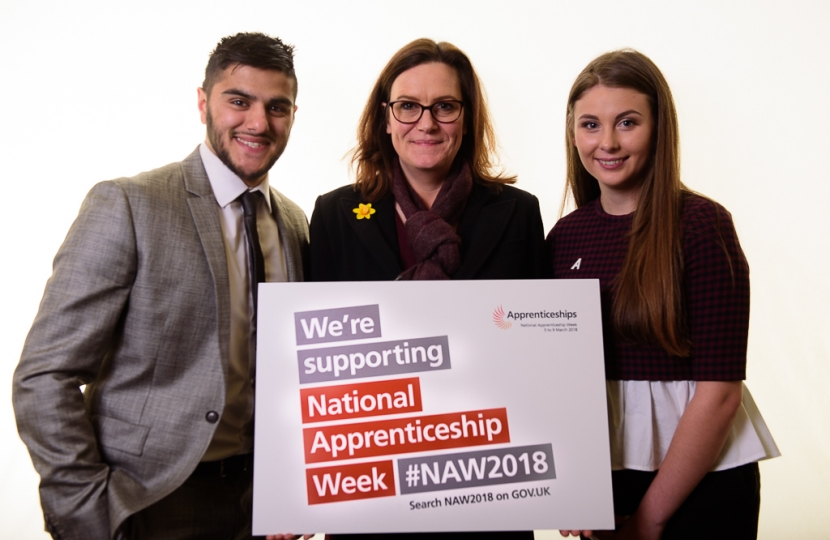 Rebecca Harris MP welcomes the start of National Apprenticeship Week